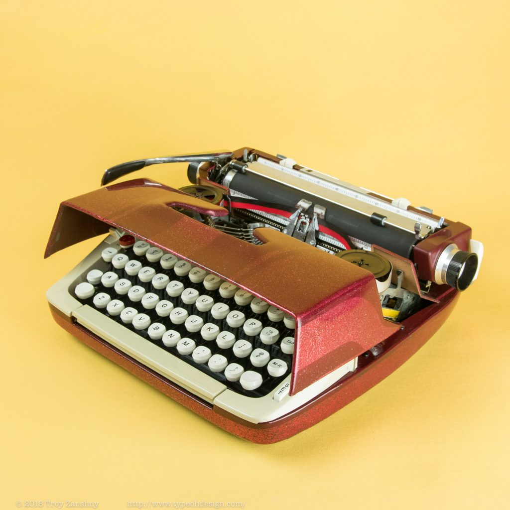 yet another smith corona galaxie 2, re-envisioned by type oh design