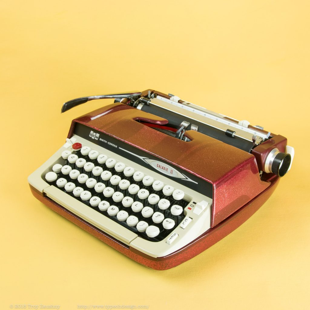 and another smith corona galaxie 2, re-envisioned by type oh design
